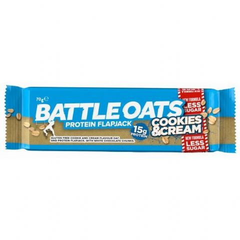 Battle Oats Cookies & Cream Protein Bar 70g
